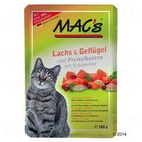 Macs Korzystny pakiet mac´s cat w saszetkach, 12 x 100 g - łosoś & borówka brusznica (4027245008505)
