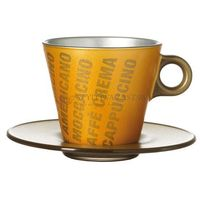 Filiżanka+spodek złota metalik grafika magico  marki Leonardo