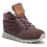 Reebok Buty - cl lthr arctic boot cn3747 almost grey/chalk/camel