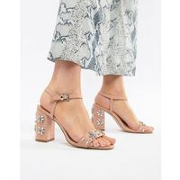 Miss kg shimmer embellished heeled sandals - beige