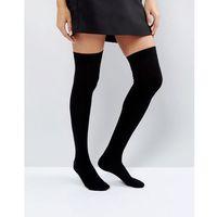 thigh high socks - black, Asos design