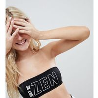 zen colour block bandeau bikini top - black marki Monki