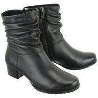 25301-21 022 black nappa, botki damskie marki Caprice