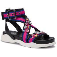 Sandały LIU JO - Star 03 B19043 TX040 Blue/Black/Fux S1107, kolor różowy
