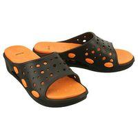 AXIM 7KL1497 czarny/pomarańczowy, klapki basenowe młodzieżowe - Czarny, kolor czarny