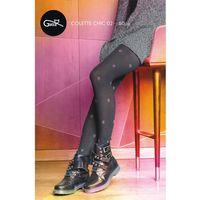Rajstopy colette chic wz.02 60 den rozmiar: 4-l, kolor: nero-pink, gatta marki Gatta