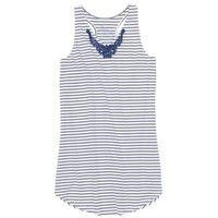 Koszula nocna niebiesko-biel wełny w paski marki Bonprix