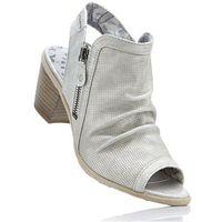 Sandały z odsłoniętymi palcami mustang jasnoszary marki Bonprix