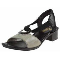 Sandały Rieker 62689 - Beżowo-Czarne