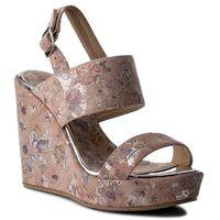 Sandały R.POLAŃSKI - 0946 Różowy Kwiaty, kolor różowy