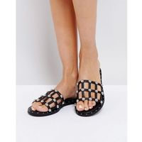 Missguided Stud Detail Sandal - Black