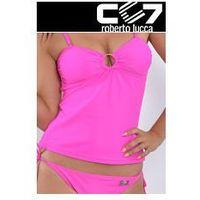 Cc7 roberto lucca Set kąpielowki cc7 tanikini + bikini hot pink no. 5