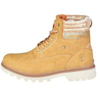 Buty za kostkę botki damskie CARRERA JEANS - TENNESSE_CAW721001-05, kolor brązowy