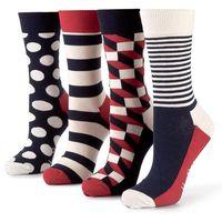 Zestaw 4 par wysokich skarpet unisex - xbdo09-6000 kolorowy, Happy socks