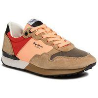 Sneakersy - bimba solid pls30971 powder pink 302, Pepe jeans, 36-41