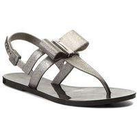 Sandały ZAXY - Glaze Sand Ad 17201 Glitter Black 90288 AA285028 02064, kolor szary