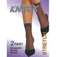 Skarpetki stretch a'2 rozmiar: uniwersalny, kolor: beżowy/visone, knittex marki Knittex