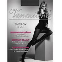 Rajstopy energy 70 den rozmiar: 3-m, kolor: czarny/nero, veneziana, Veneziana