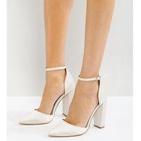 penalty bridal pointed high heels - cream, Asos