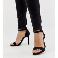 New Look wide fit heeled sandal in black - Black, kolor czarny