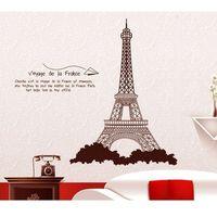 4home Naklejka dekoracyjna wieża eiffla brązowy