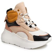 Bronx Sneakersy - 47240-ab black/o.white/taupe/mustard 3364