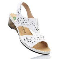 Bonprix Wygodne sandały skórzane biały