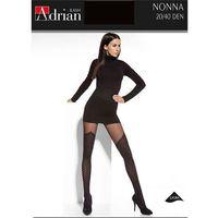 Rajstopy Adrian Nonna 5XL-6XL 20/40 den 5-XL, czarny/nero. Adrian, 5-XL, 6-2XL, kolor czarny