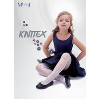 Rajstopy missy ażur 134-140, biały. knittex, 128-134, 134-140, 140-146, Knittex