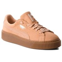 Sneakersy - suede platform animal 365109 dusty coral/puma silver, Puma