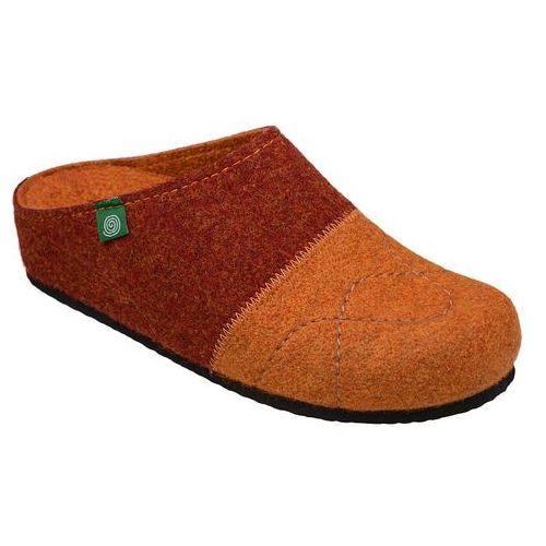 Kapcie Pantofle domowe Ciapy Dr Brinkmann 320454-62 Rudy Brąz - Brązowy ||Rudy ||Pomarańczowy, kolor brązowy