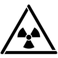 Szablon do malowania znak ostrzeżenie przed mat. radioaktywnym... gw003 - 17x20 cm marki Szabloneria