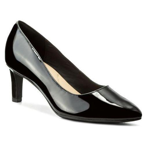 Półbuty CLARKS - Calla Rose 261322444 Black Patent Leather, kolor czarny