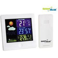GreenBlue Stacja pogody bezprzewodowa DCF GB521W biała, GB521W