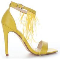 Modne czółenka damskie firmy żółte marki Sergio todzi