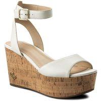 Sandały GUESS - Nicolla FLNIC1 LEA03 CREAM, kolor biały