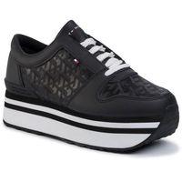 Sneakersy TOMMY HILFIGER - Tommy Jacquard Flatform Sneaker FW0FW04680 Black BDS, w 7 rozmiarach