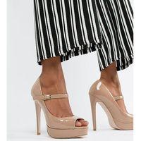 Miss kg peep toe platforms - beige