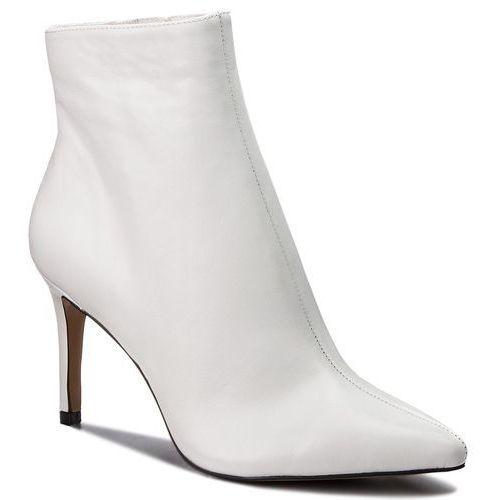 Botki - logic ankle boot sm11000195-03001-107 white leather marki Steve madden