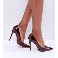 paris wide fit pointed high heels - brown, Asos