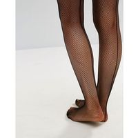 micro fishnet seamed hold ups - black, Ann summers
