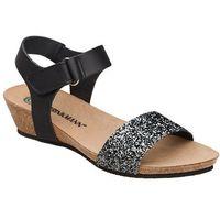 Sandały buty 710783-1 czarne - czarny ||brokat ||multikolor marki Dr brinkmann