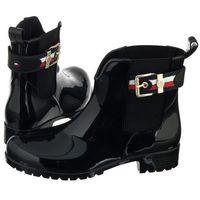 Kalosze corporate belt rain fw0fw03329 990 black (th19-a), Tommy hilfiger, 38-40