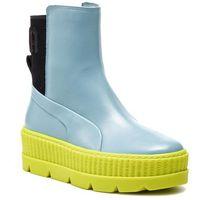 Sneakersy - chelsea sneaker boot wn's 366266 01 sterling blue/black/limeade marki Puma