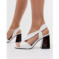 wide fit block sandals with crossover strap in white - white, River island