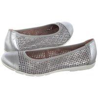 Baleriny Caprice Srebrne 9-22151-22 924 Silver Sue.Met (CP152-a)