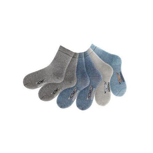 Skarpety Arizona (6 par) bonprix ciemnoszary + antracytowy + szary + niebieski dżins + jasnoniebieski