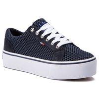 Sneakersy - wmn textile city sneaker en0en00409 midnight 403, Tommy jeans