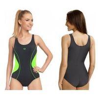 Gwinner strój kąpielowy damski jednoczęściowy (grafit/zielony) (gw10215/1)