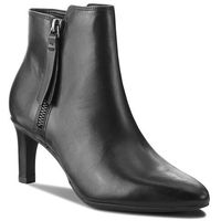 Clarks Botki - calla blossom 261360384 black leather